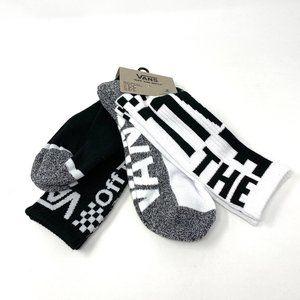 VANS Men_s 2 pack Socks Black White